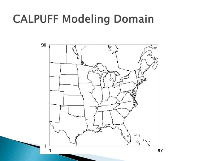 CALPUFF Modeling Domain