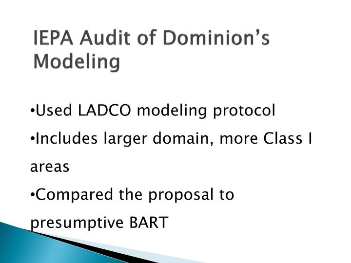 IEPA Audit of Dominion's Modeling