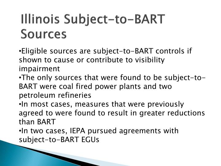 Illinois Subject-to-BART Sources