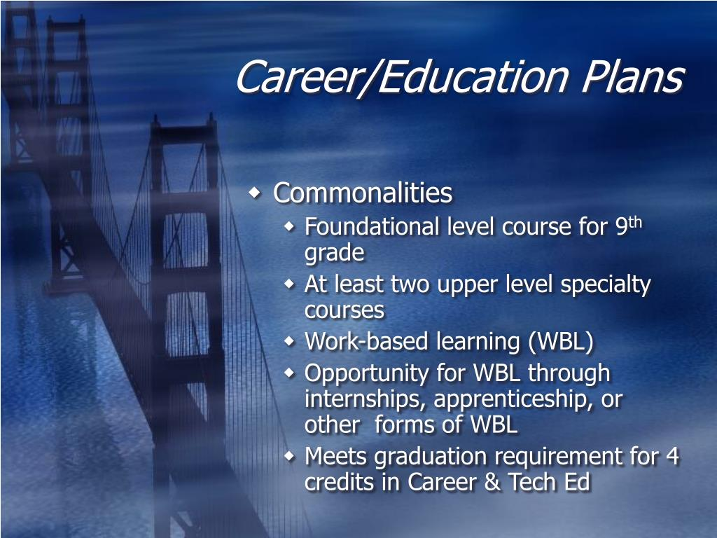 Career/Education Plans