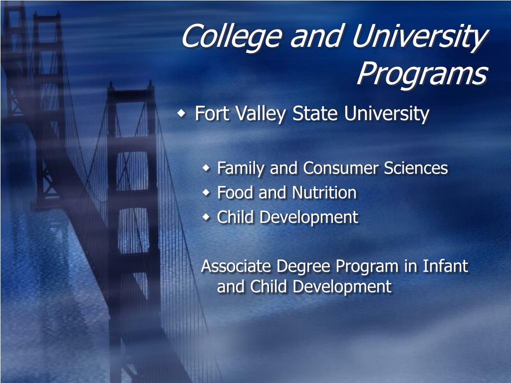 College and University Programs