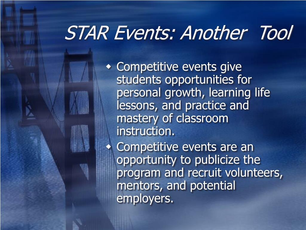 STAR Events: Another  Tool