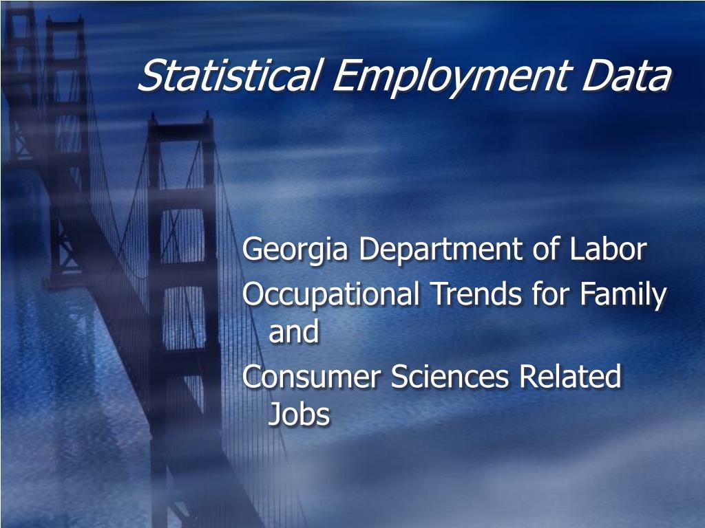 Statistical Employment Data