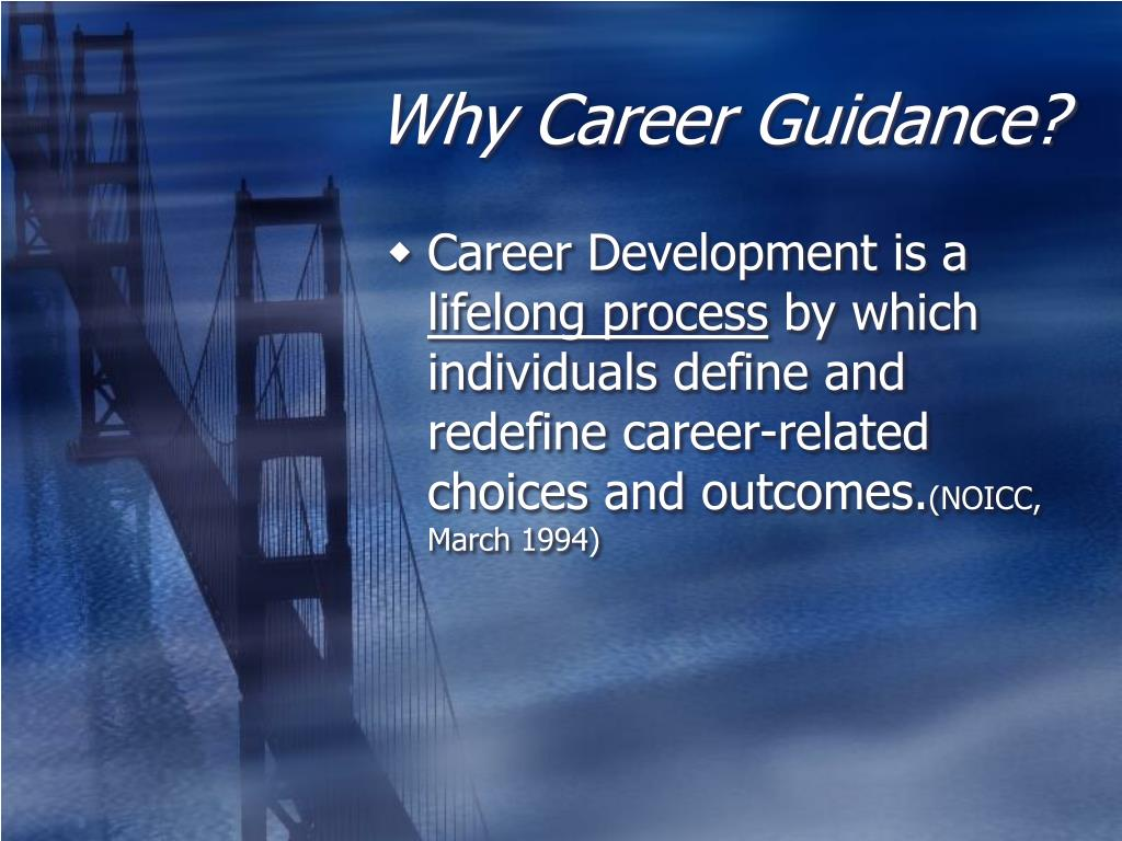 Why Career Guidance?
