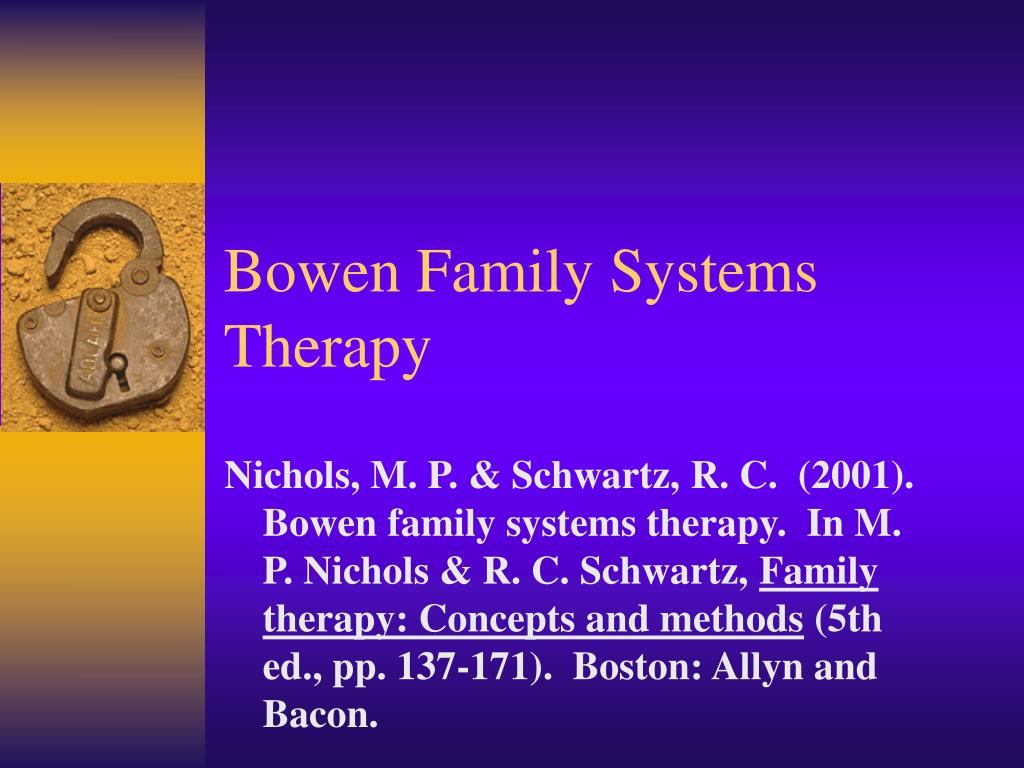 bowens family systems Alcoholism as viewed through family systems theory and family psychotherapy  alan korinek, miriam mulsow, family systems,.