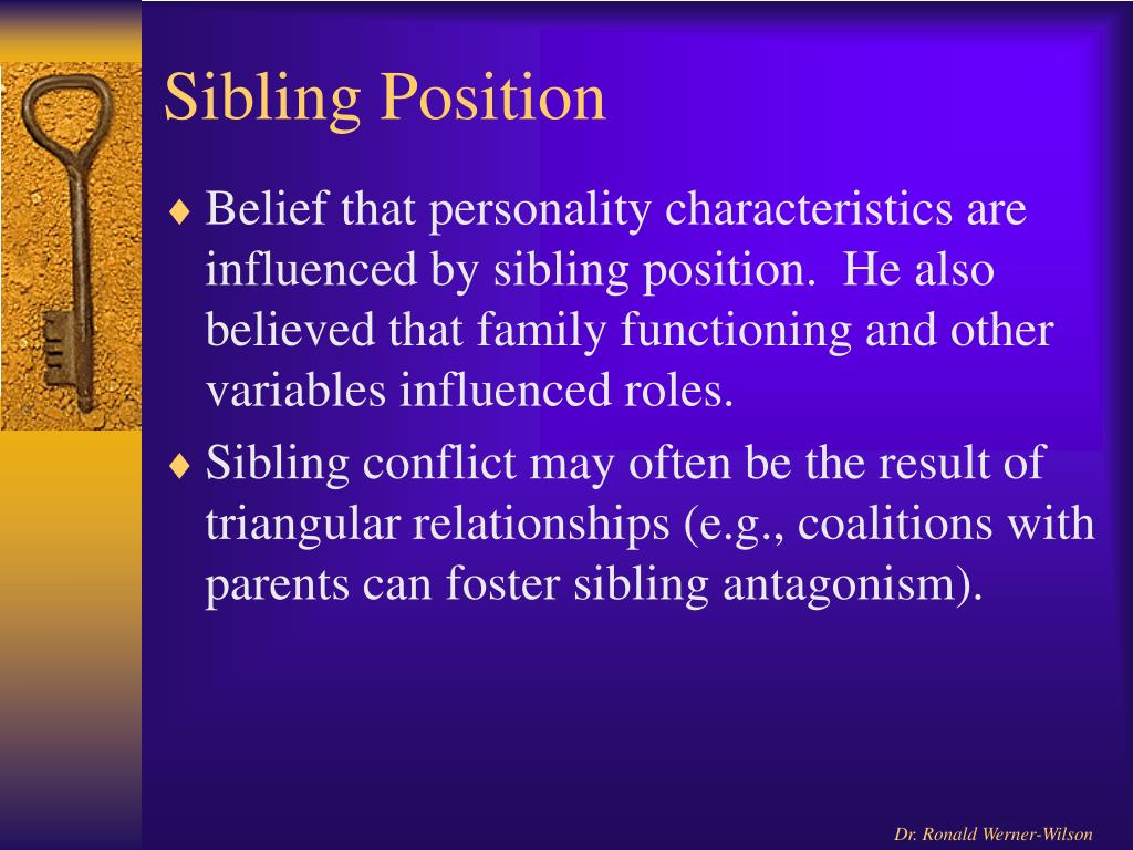 following sibling position and dating