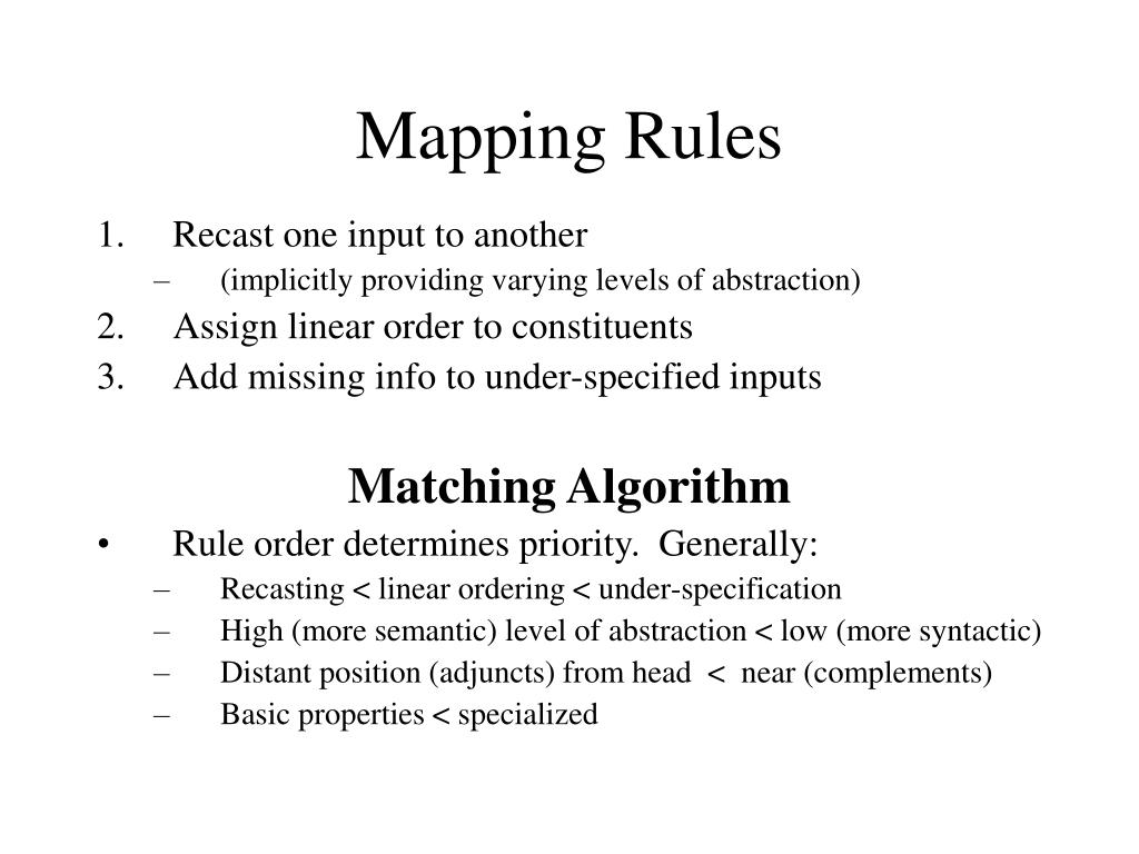 Mapping Rules