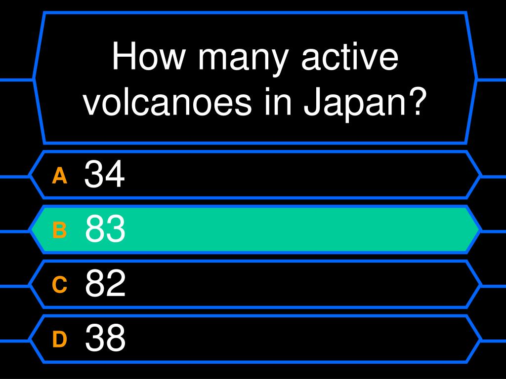 How many active volcanoes in Japan?