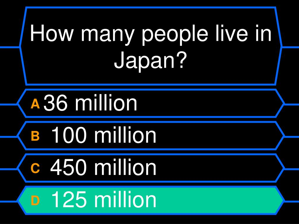 How many people live in Japan?