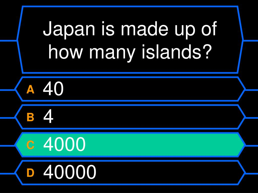 Japan is made up of how many islands?