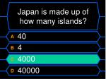 japan is made up of how many islands20