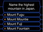 name the highest mountain in japan