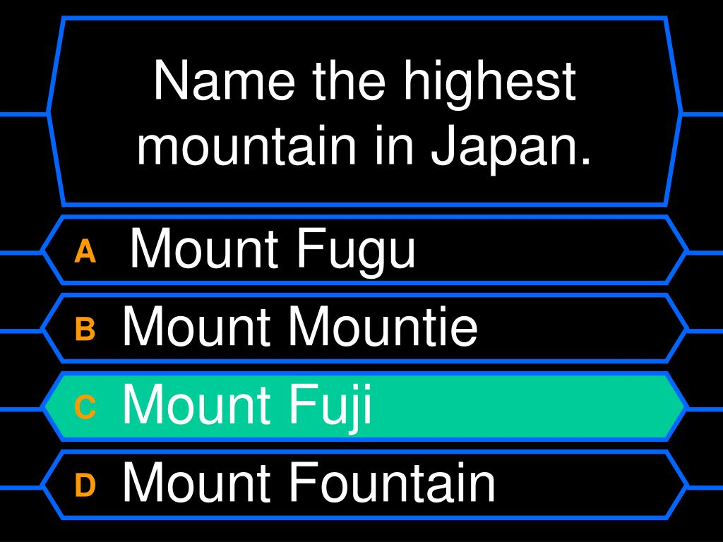 Name the highest mountain in Japan.