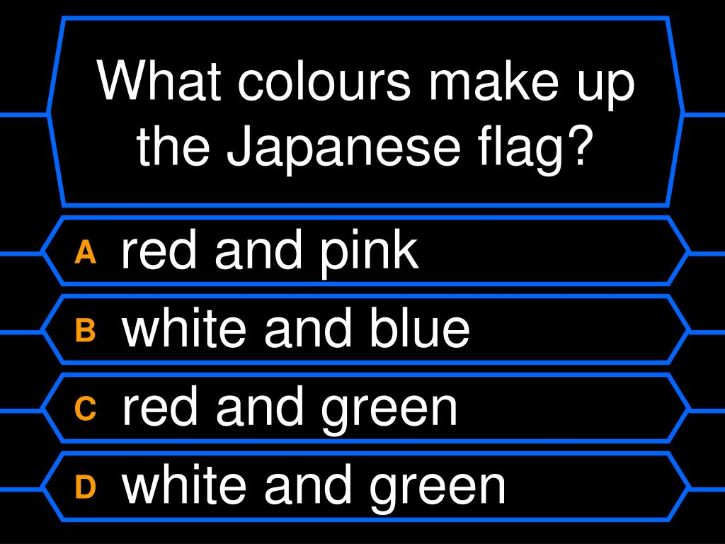 What colours make up the Japanese flag?
