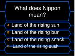 what does nippon mean