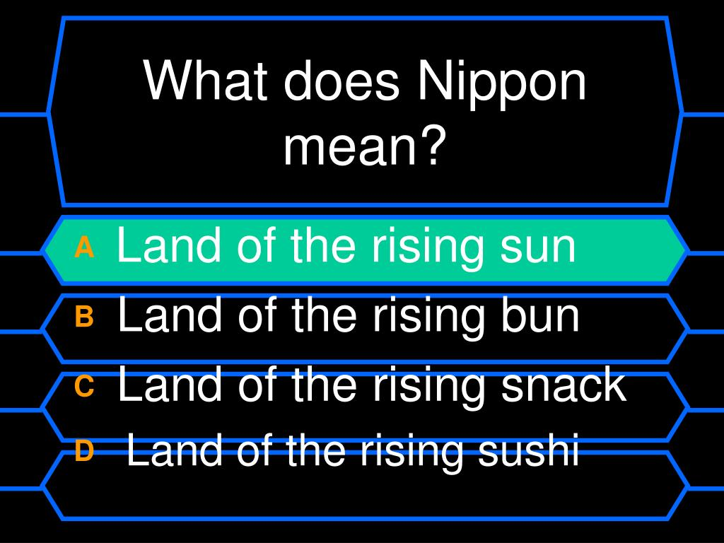 What does Nippon mean?