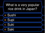 what is a very popular rice drink in japan