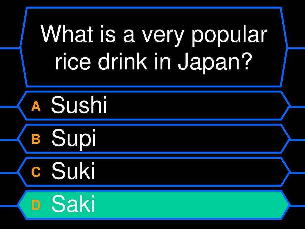 What is a very popular rice drink in Japan?