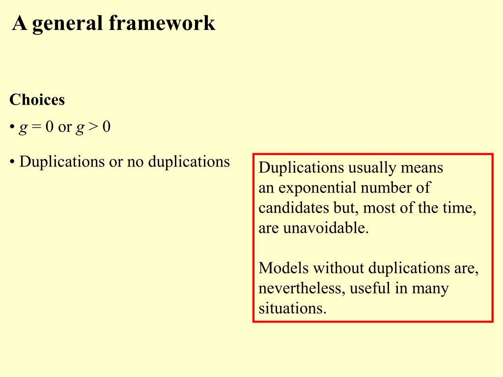 A general framework