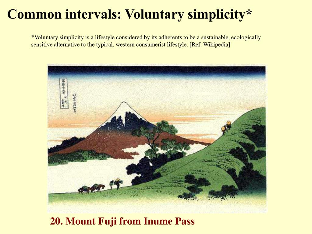 Common intervals: Voluntary simplicity*