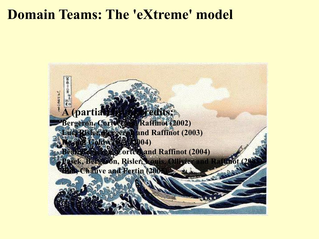 Domain Teams: The 'eXtreme' model