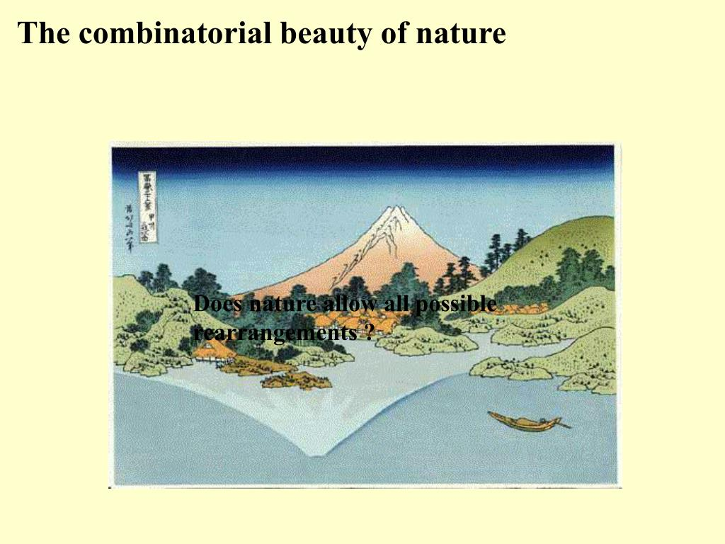 The combinatorial beauty of nature