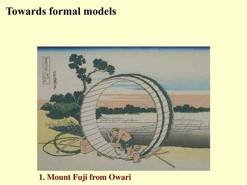 Towards formal models