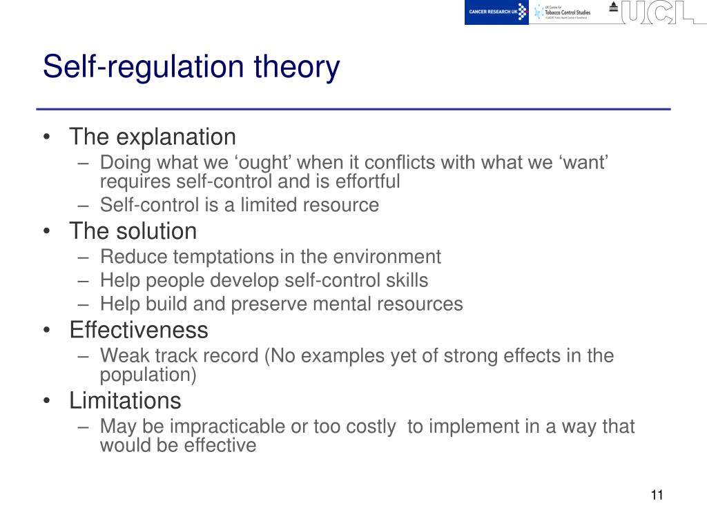 Self-regulation theory
