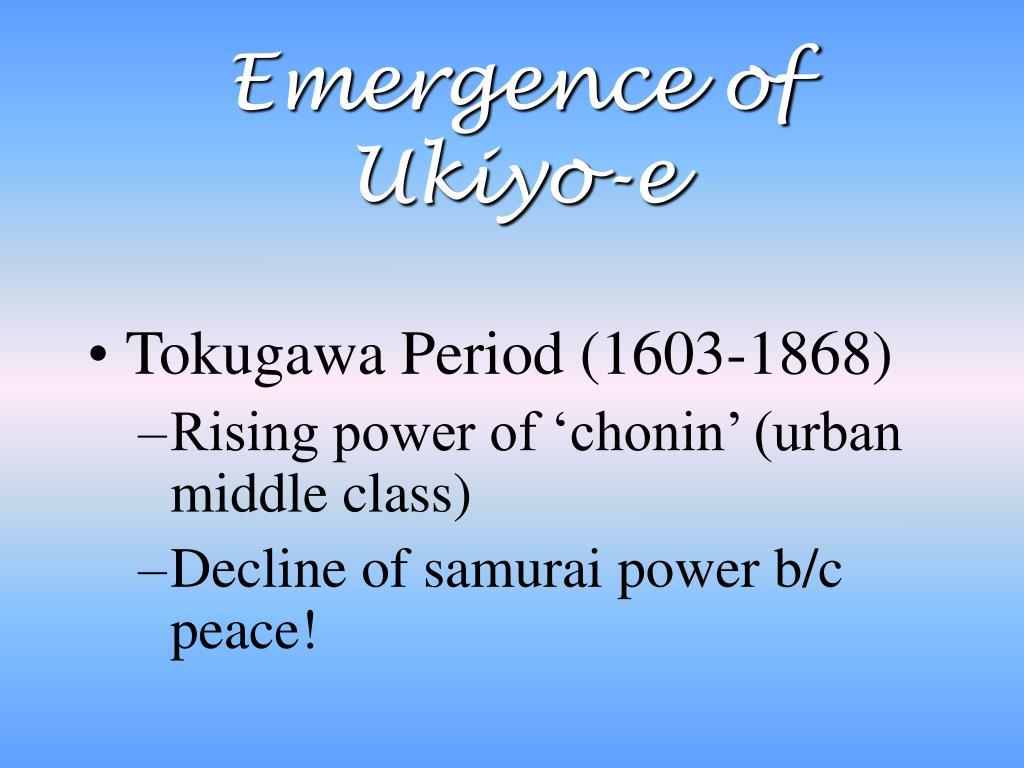 Emergence of Ukiyo-e