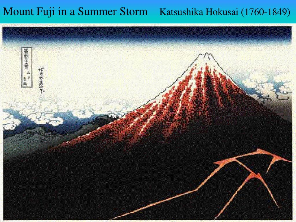 Mount Fuji in a Summer Storm