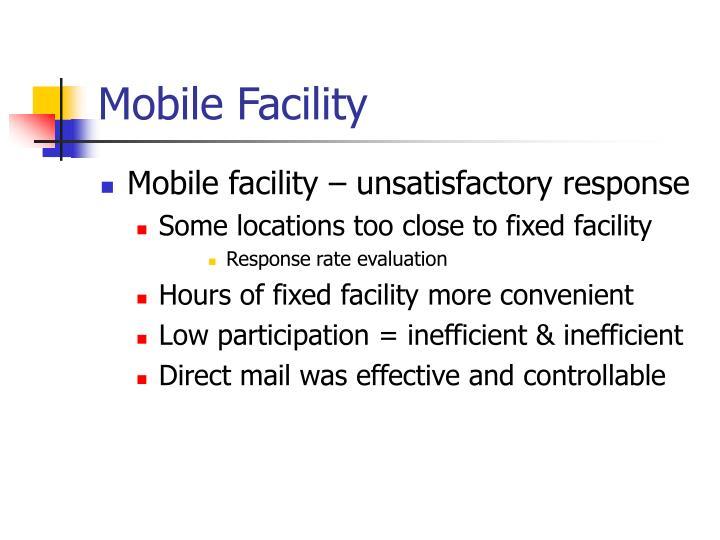 Mobile Facility
