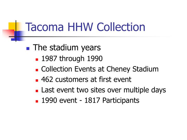 Tacoma HHW Collection