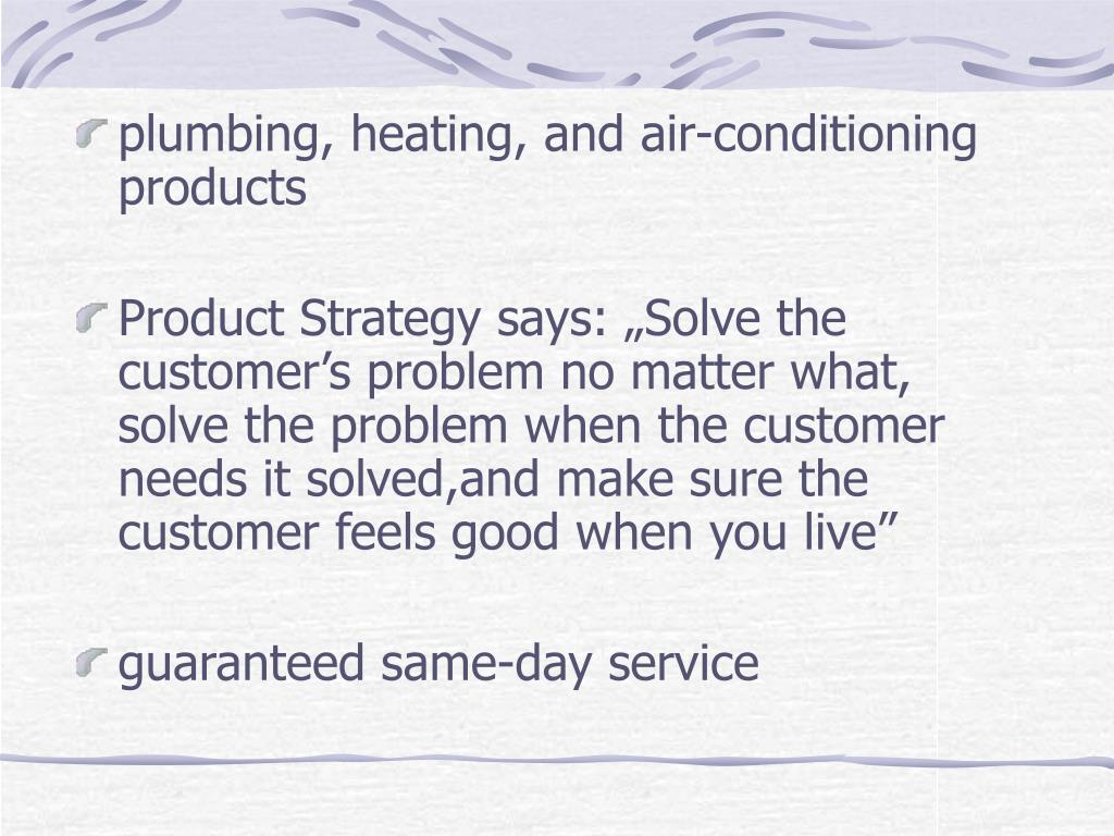 plumbing, heating, and air-conditioning products