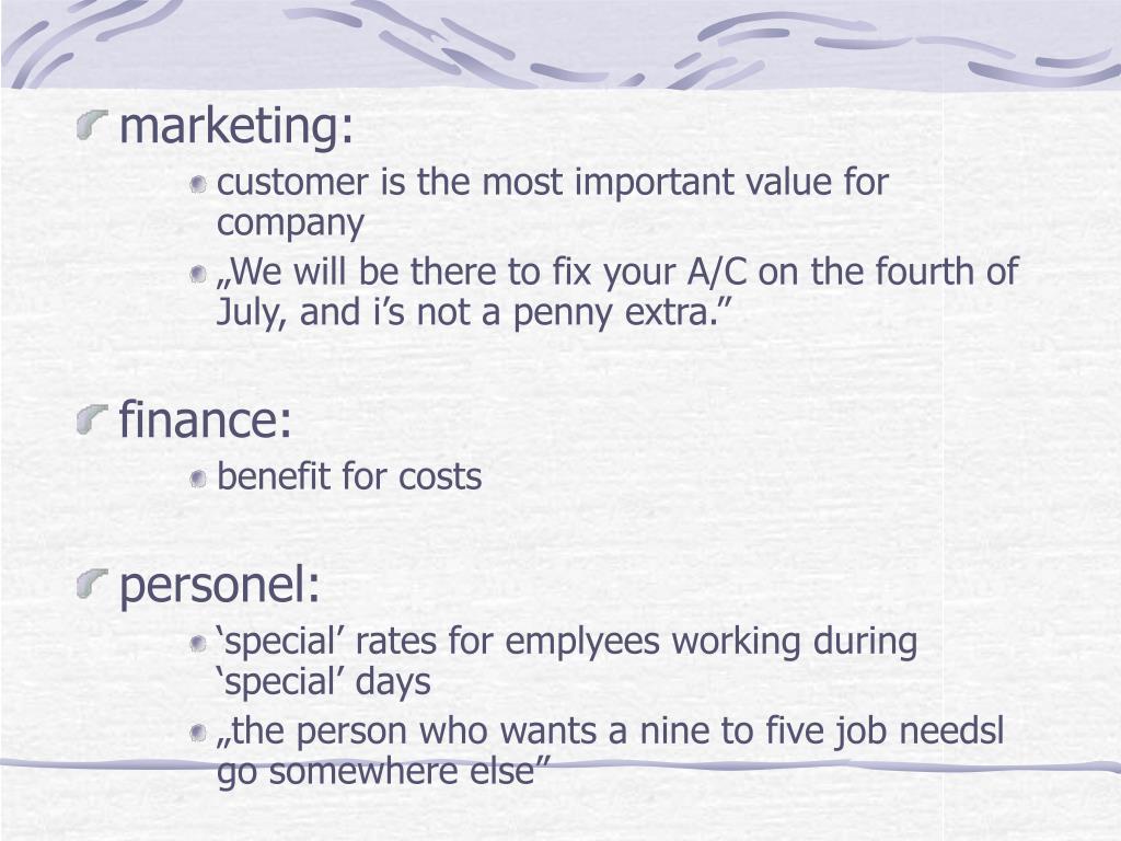 marketing: