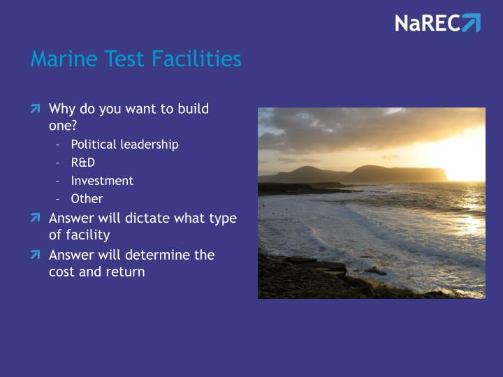 Marine Test Facilities