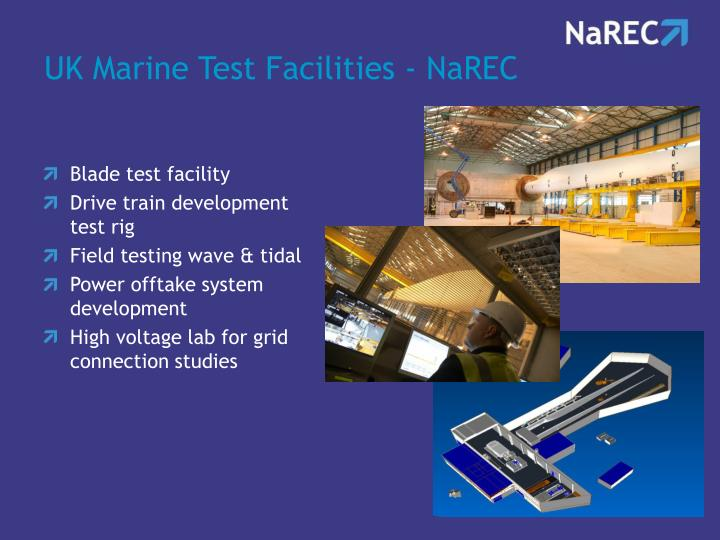 UK Marine Test Facilities - NaREC