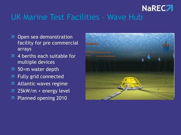 UK Marine Test Facilities – Wave Hub