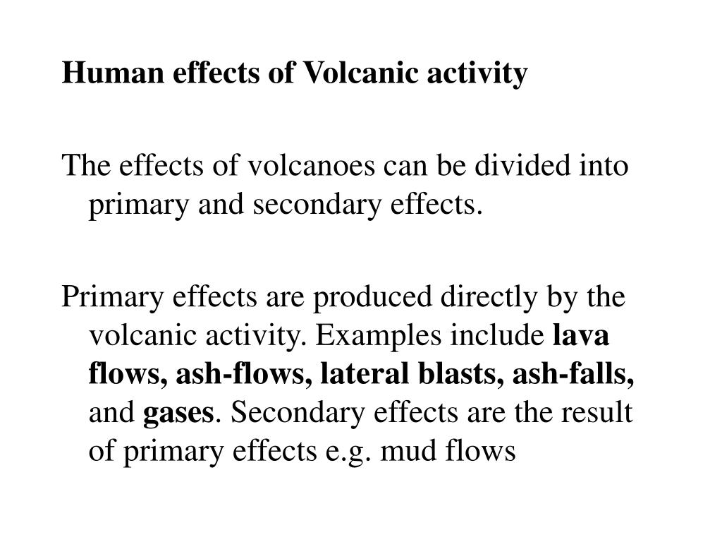 Human effects of Volcanic activity