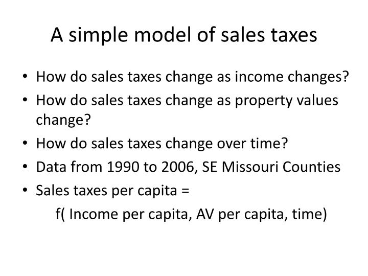 A simple model of sales taxes