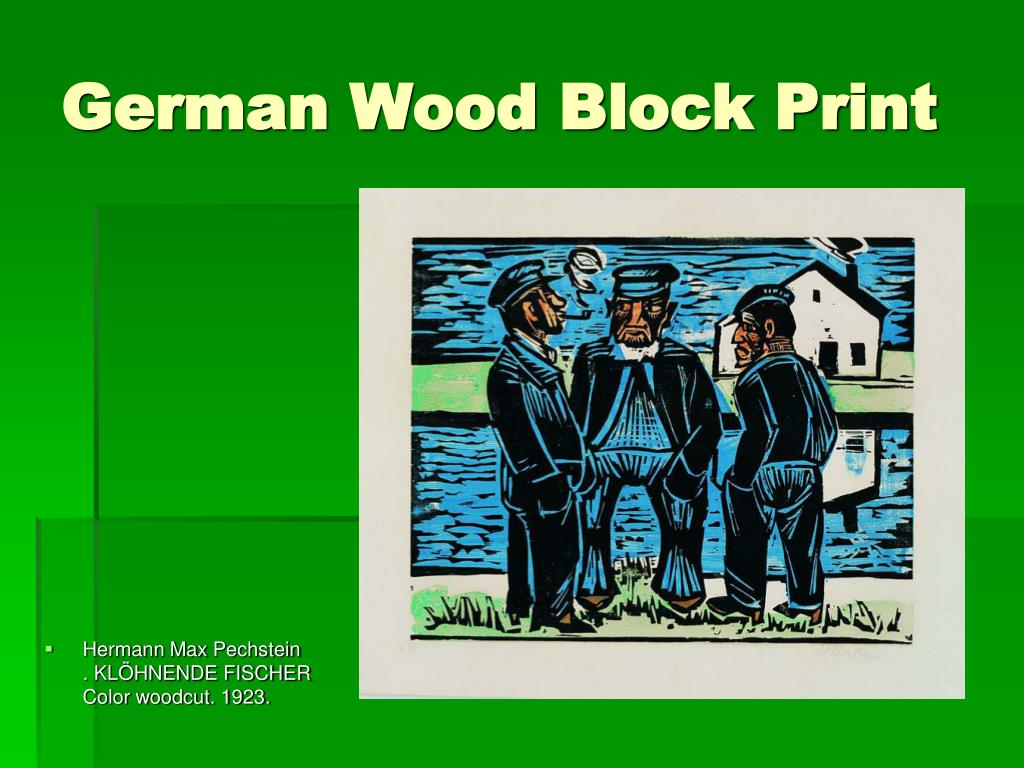 German Wood Block Print