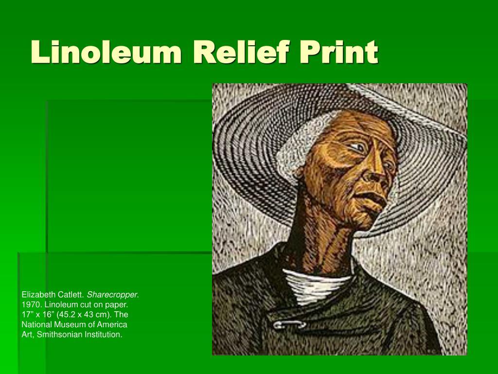 Linoleum Relief Print