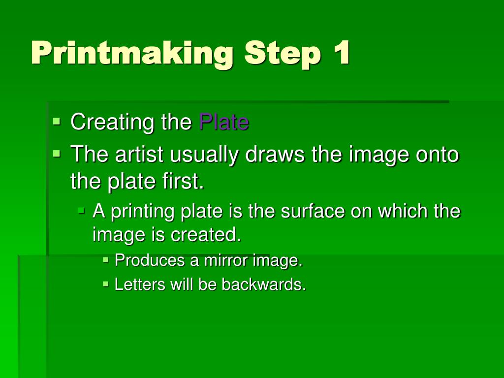 Printmaking Step1