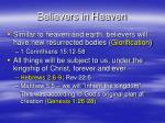 believers in heaven