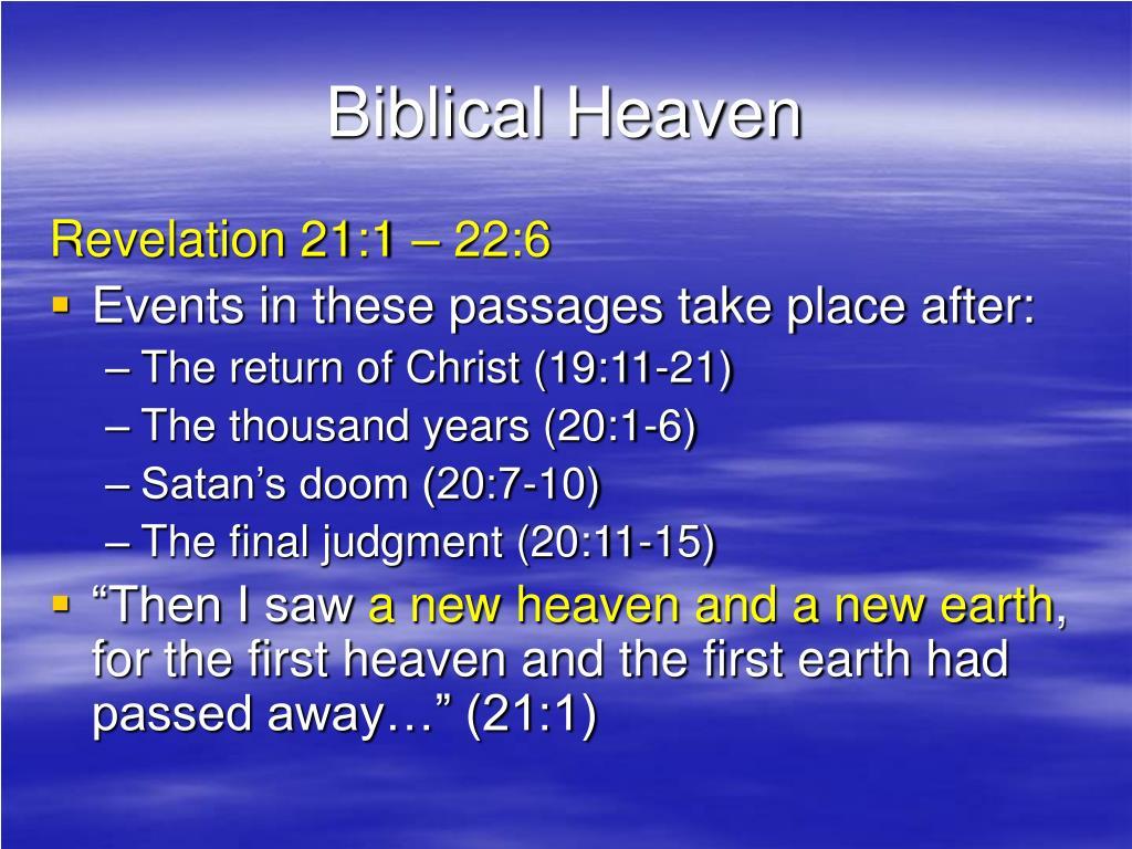Biblical Heaven