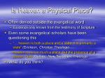 is heaven a physical place