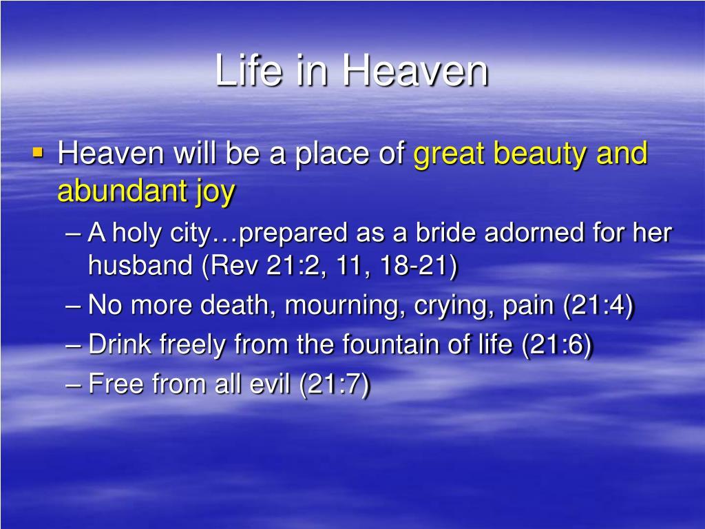 Life in Heaven