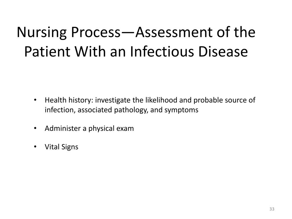 Nursing Process—Assessment of the Patient With an Infectious Disease
