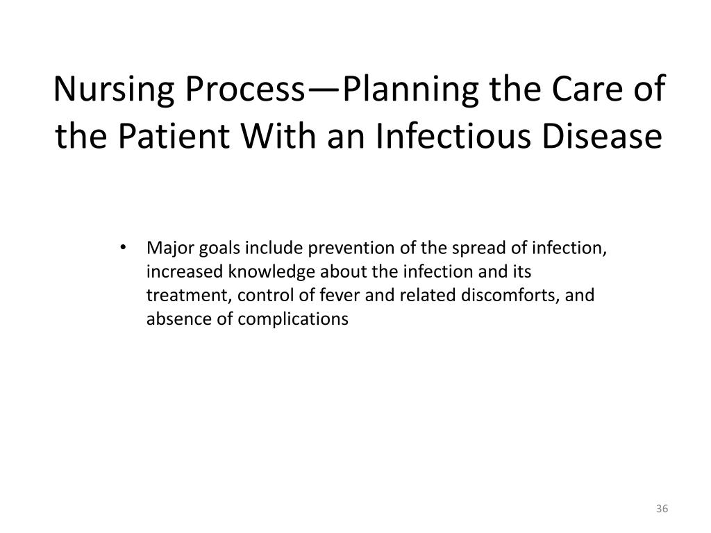 Nursing Process—Planning the Care of the Patient With an Infectious Disease