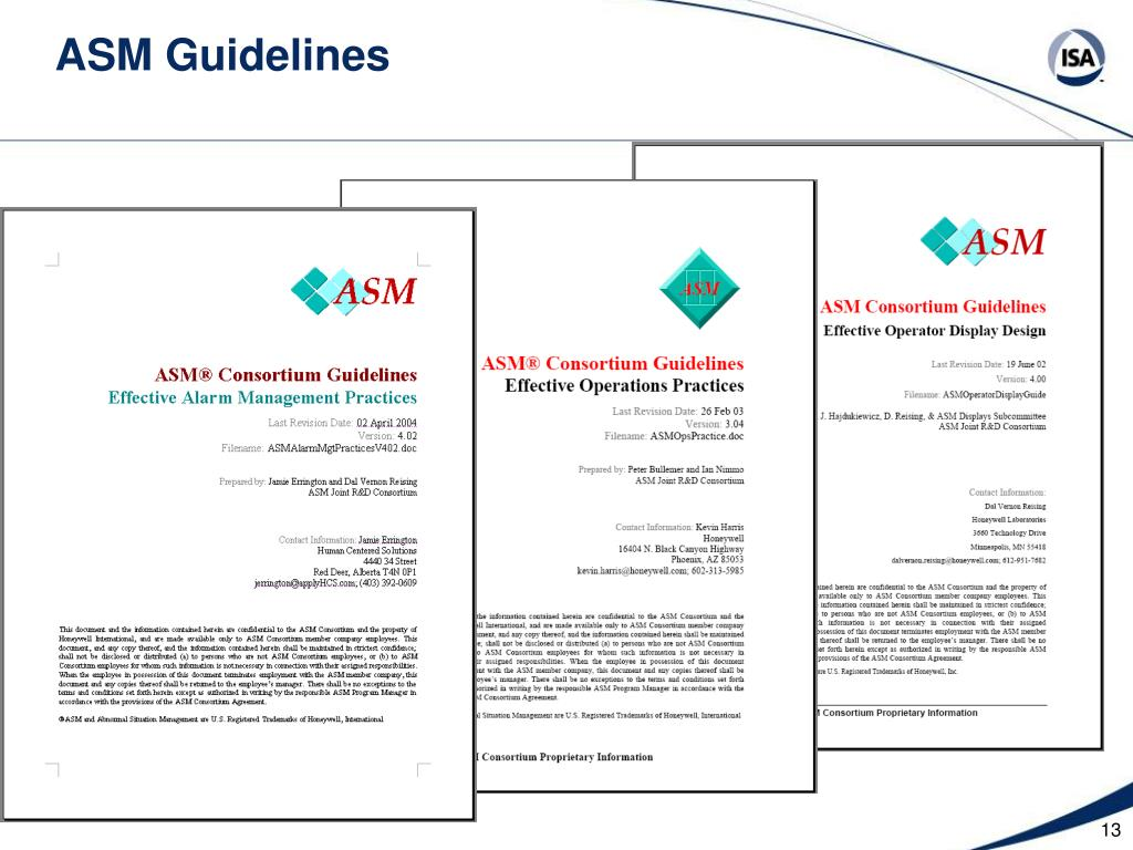 ASM Guidelines