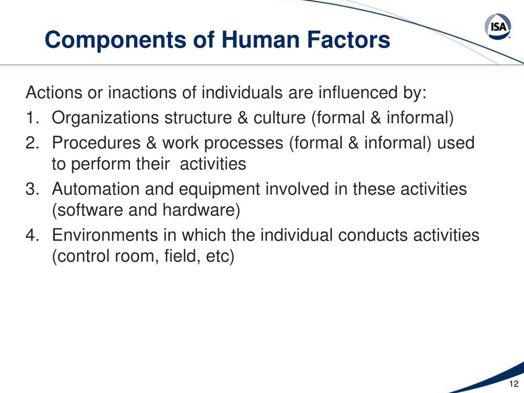 Components of Human Factors